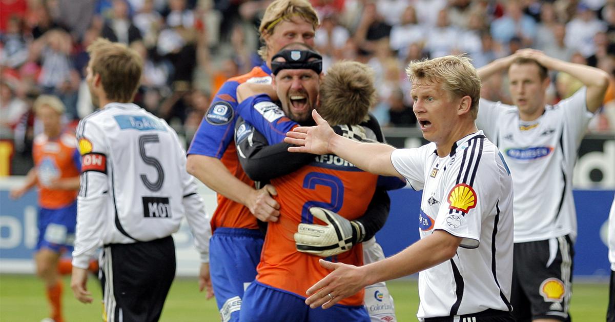 Adin Brown scoring vs Rosenborg på Lerkendal
