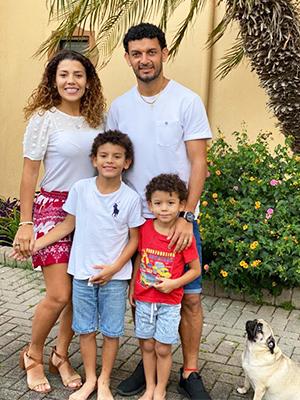 Michael Barrantes med familie